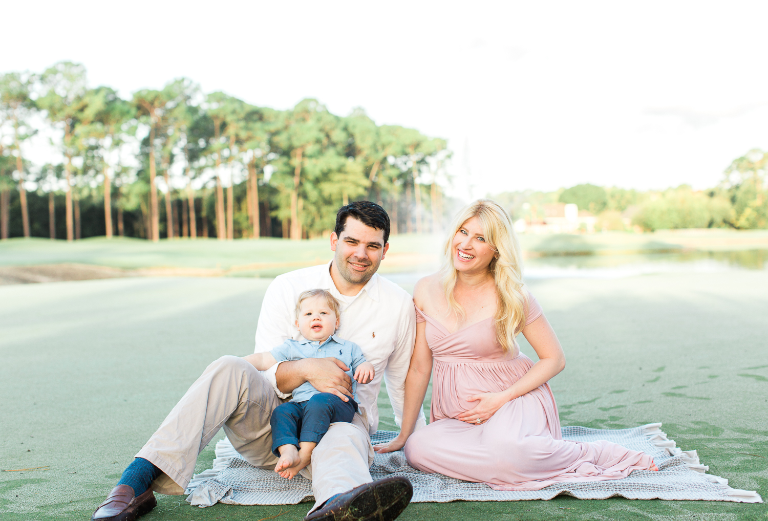 sunrise family and maternity  photoshoot in jacksonville golf and country club
