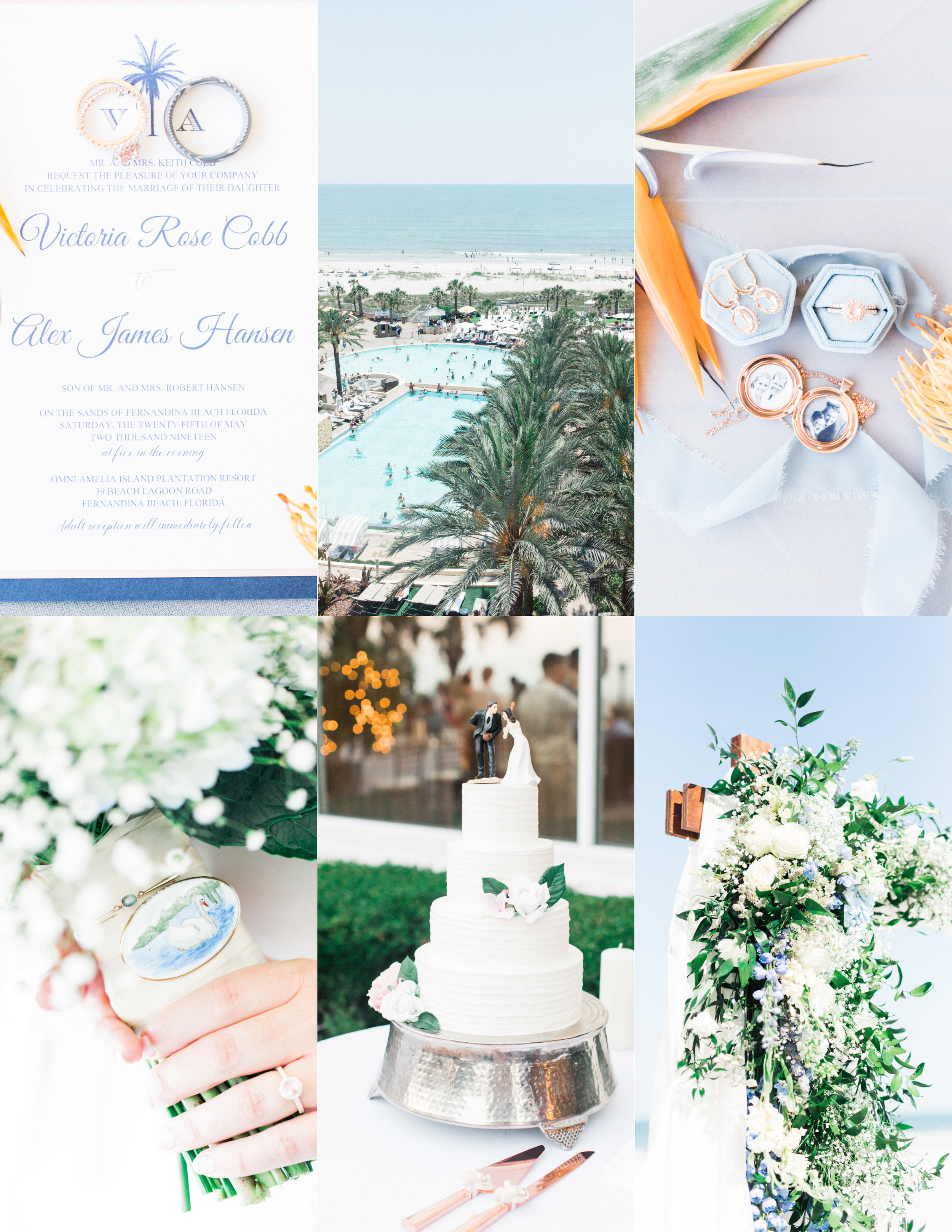 omni amelia island resort wedding with all the details, cake, flowers, invitations and more
