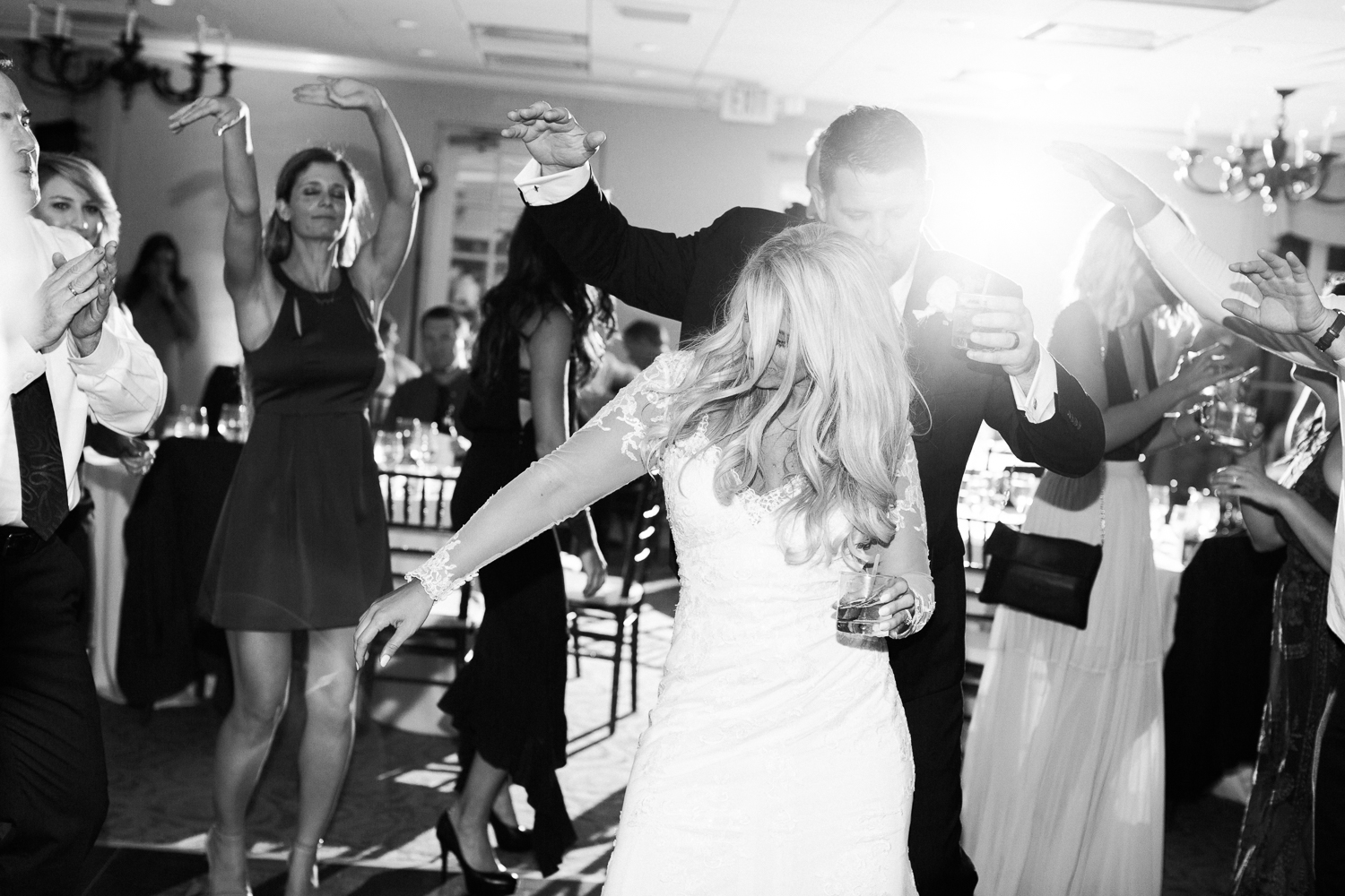 bride and groom dancing the night away in jacksonville fl wedding