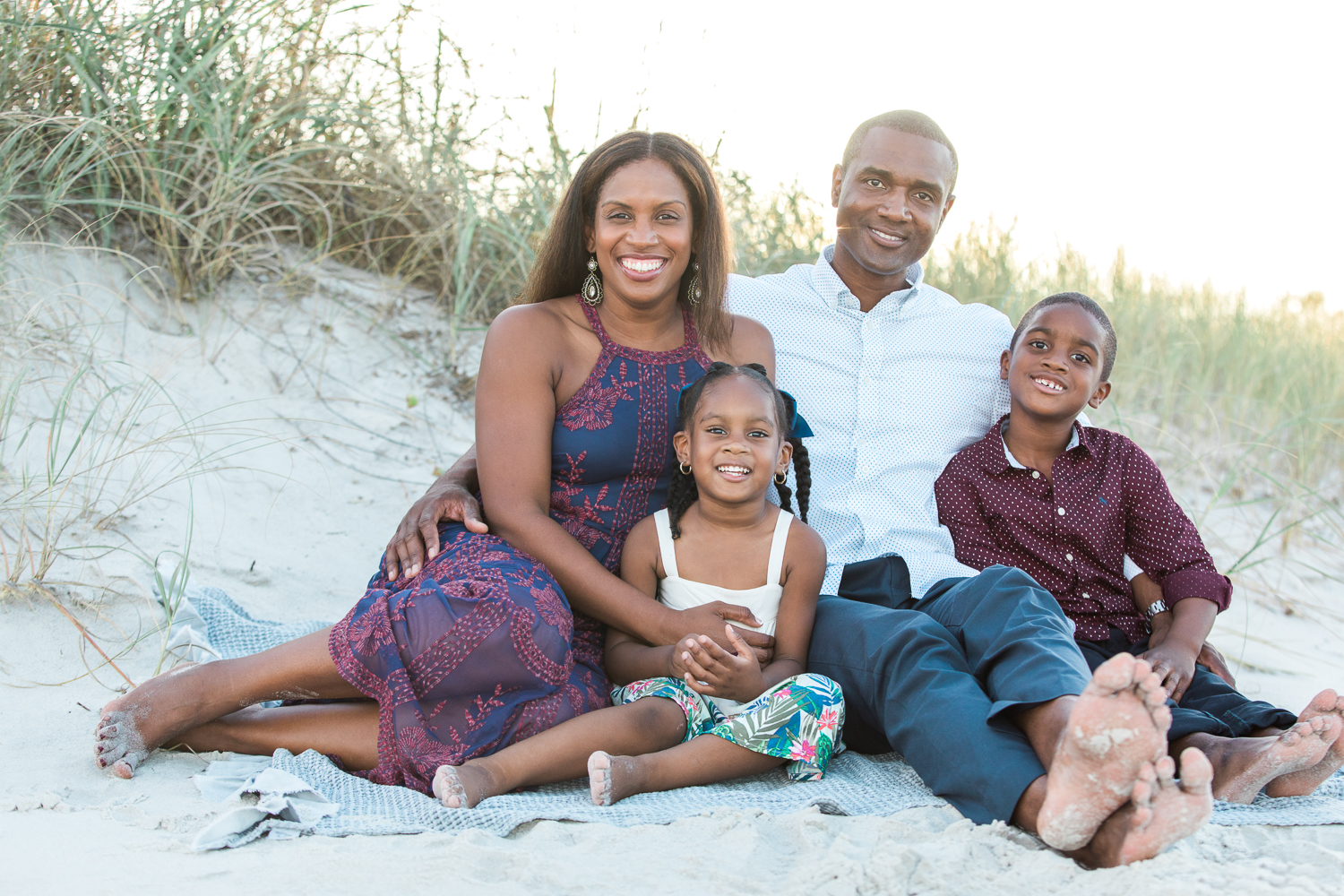ponte vedra family photos at the beach during sunset