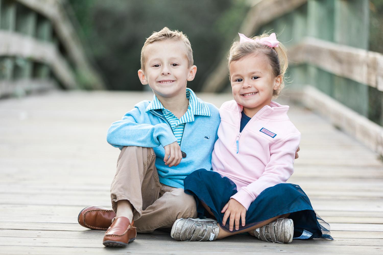 kids on the boardwalk in Hanna park
