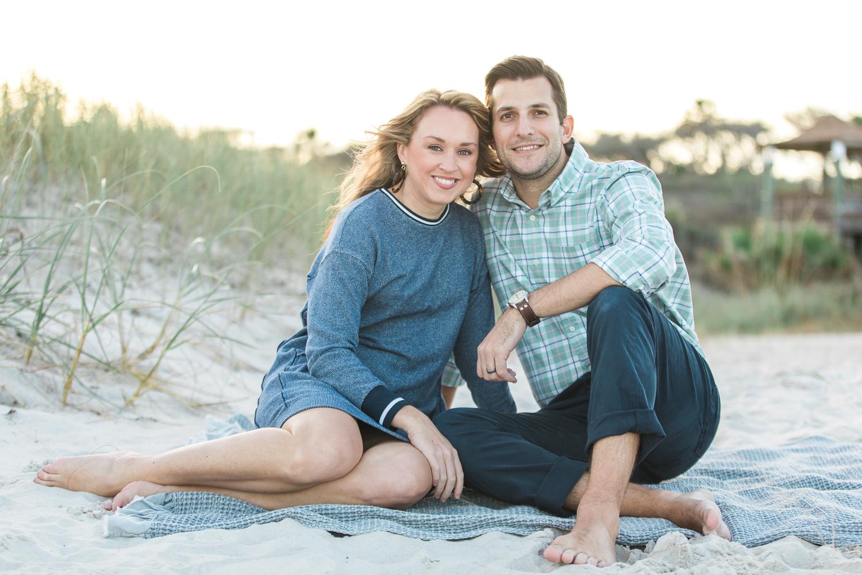 couple posing at the beach in Hanna Park