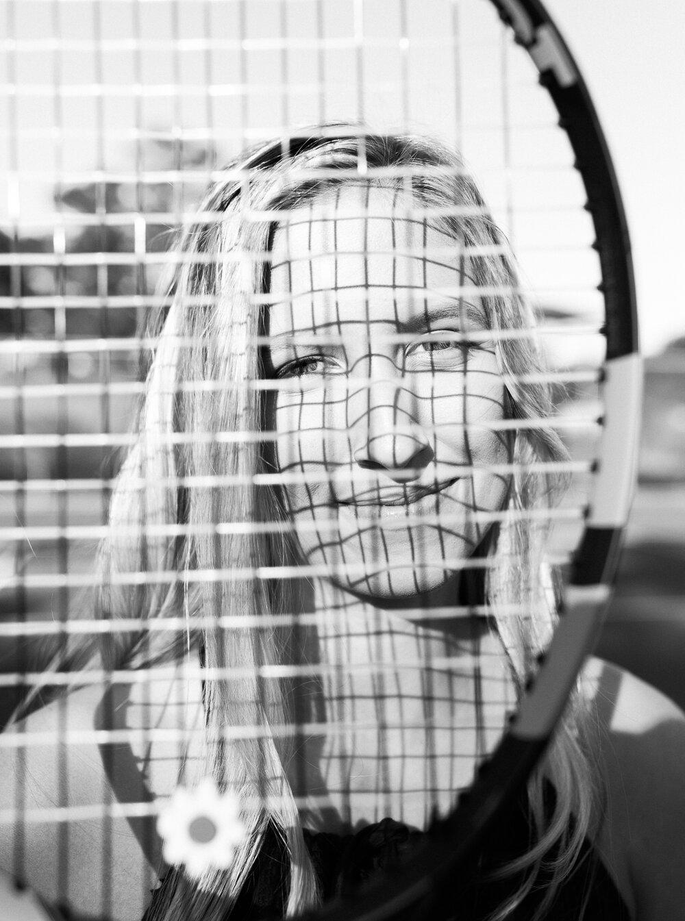 tennis player high school senior picture ideas