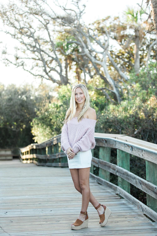 high school senior photoshoot in Hanna park in Jacksonville,FL