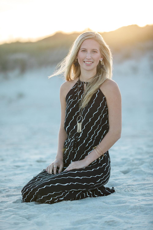 high school senior sunset photoshoot at the beach in Jacksonville, fl