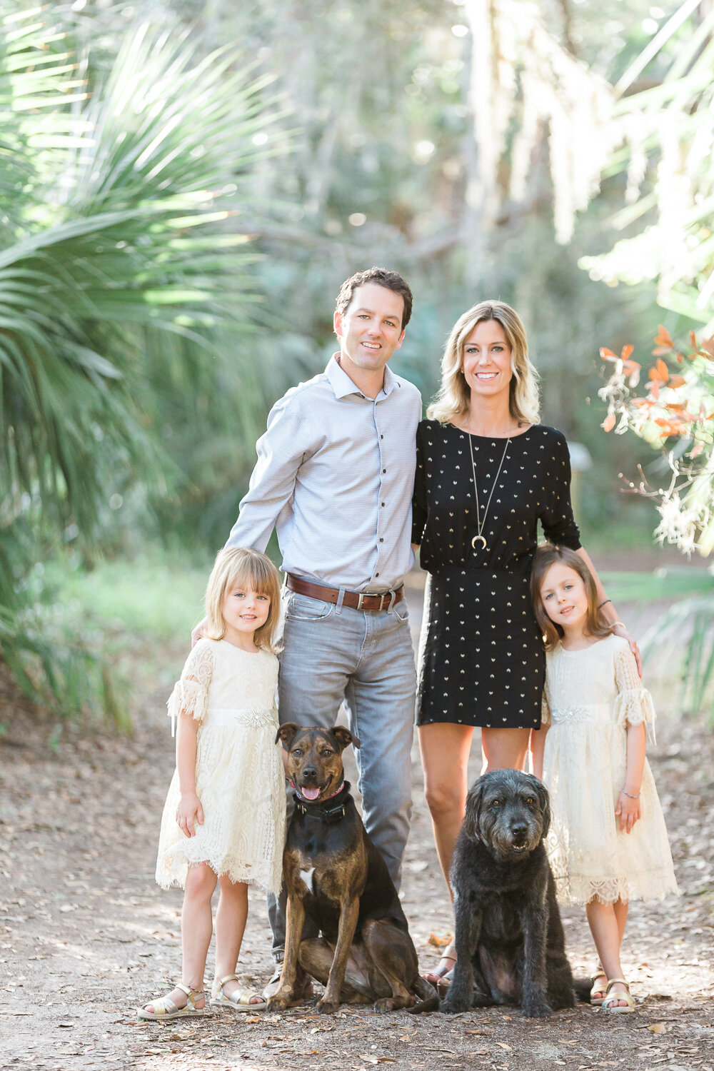 Family session with dogs in Hanna Park