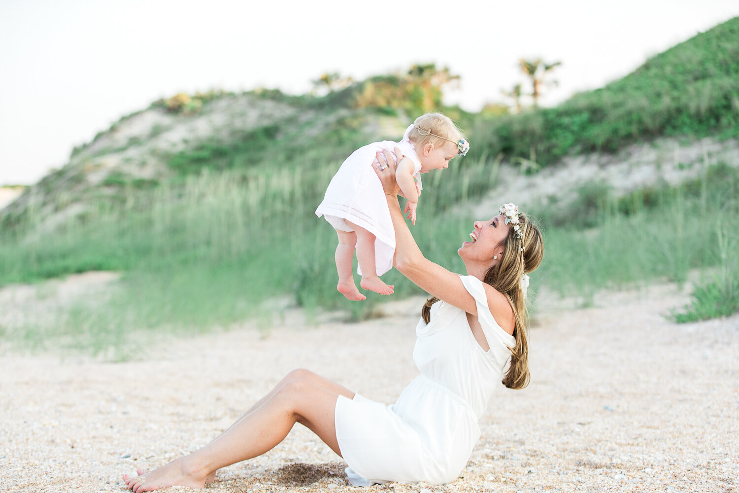 mommy and me photoshoot in Guana beach in Ponte Vedra area