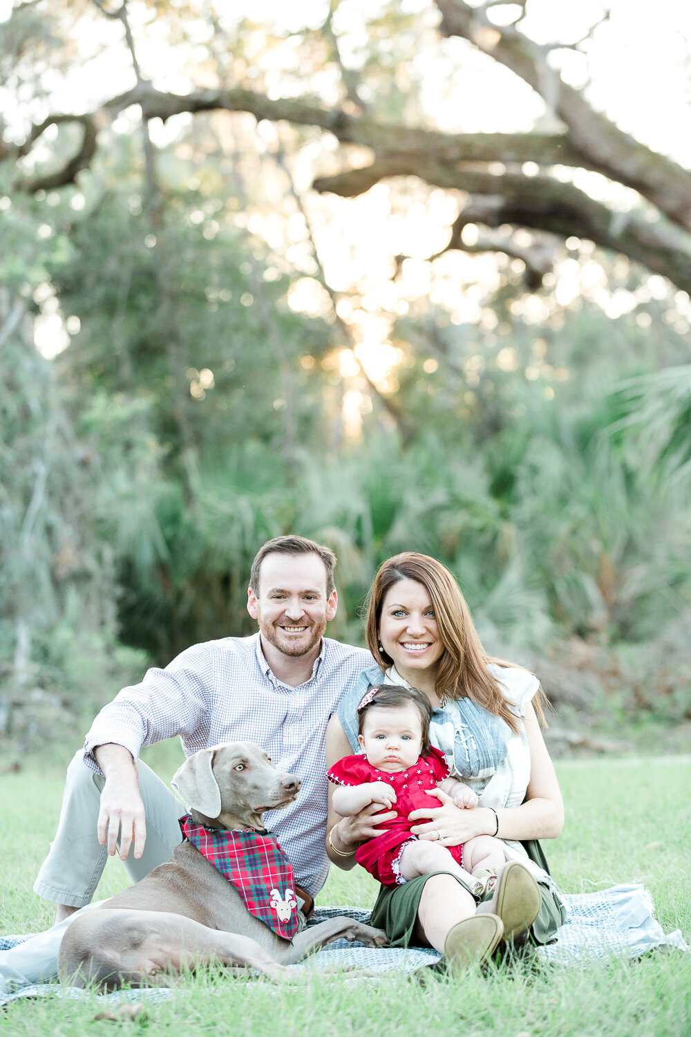 Holiday themed family session in Nocatee's 20 mile park