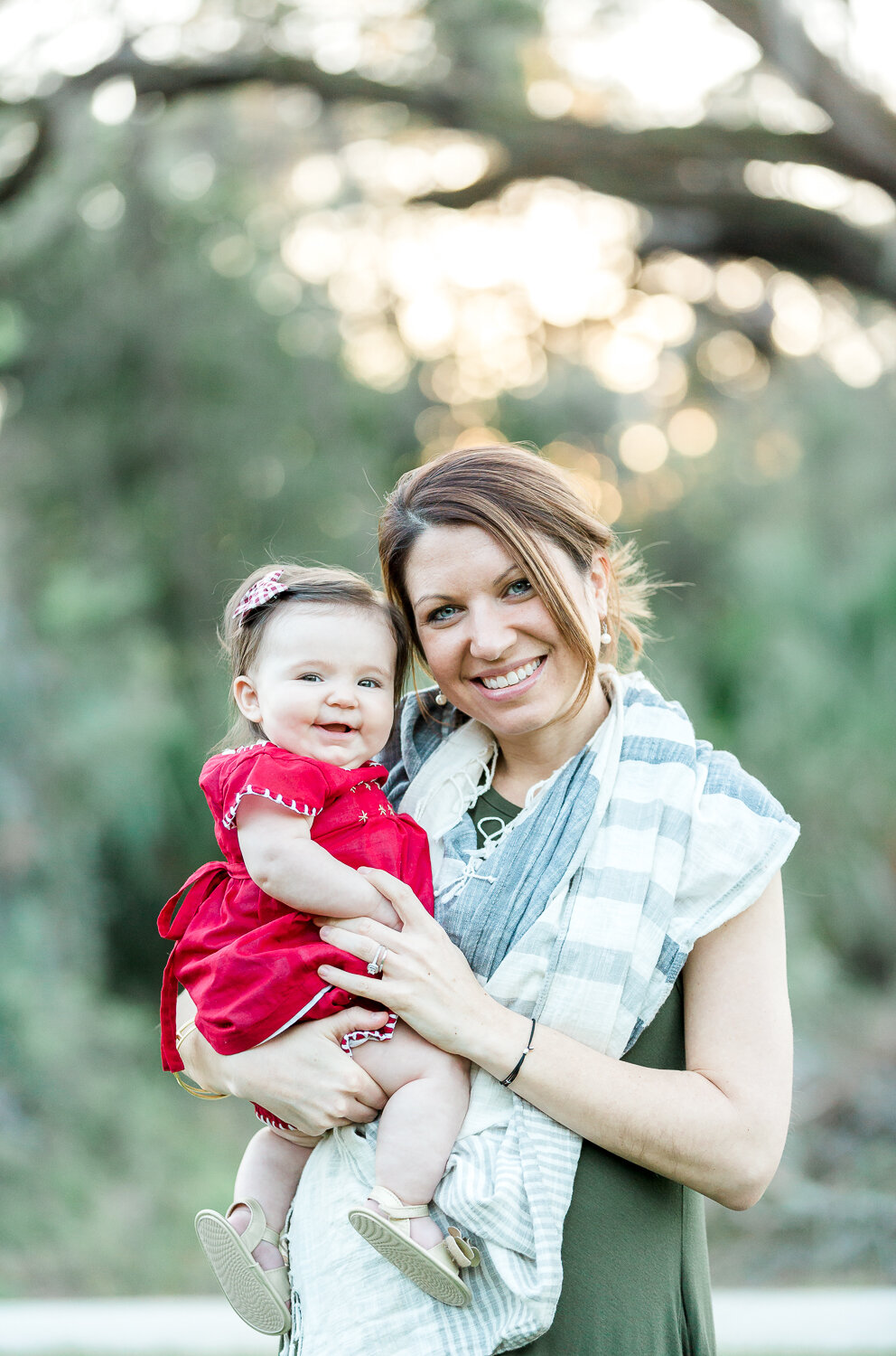 Mommy and me Holiday themed photoshoot in Nocatee-s 20 mile park