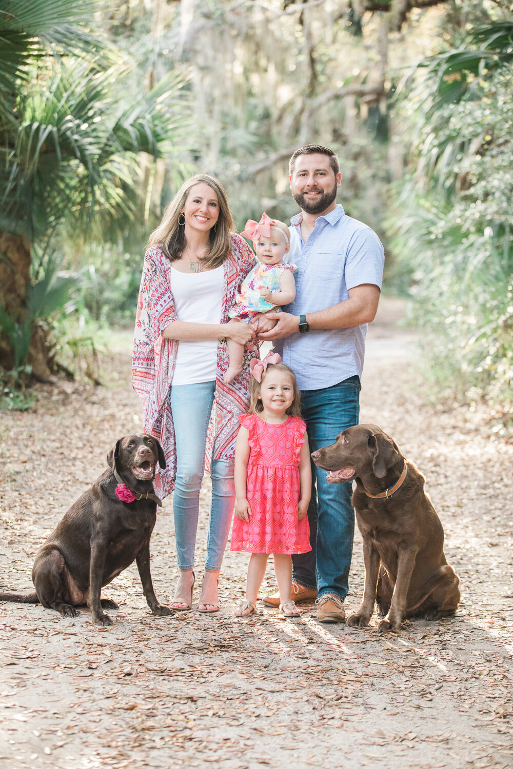 family pictures with dogs in hanna park