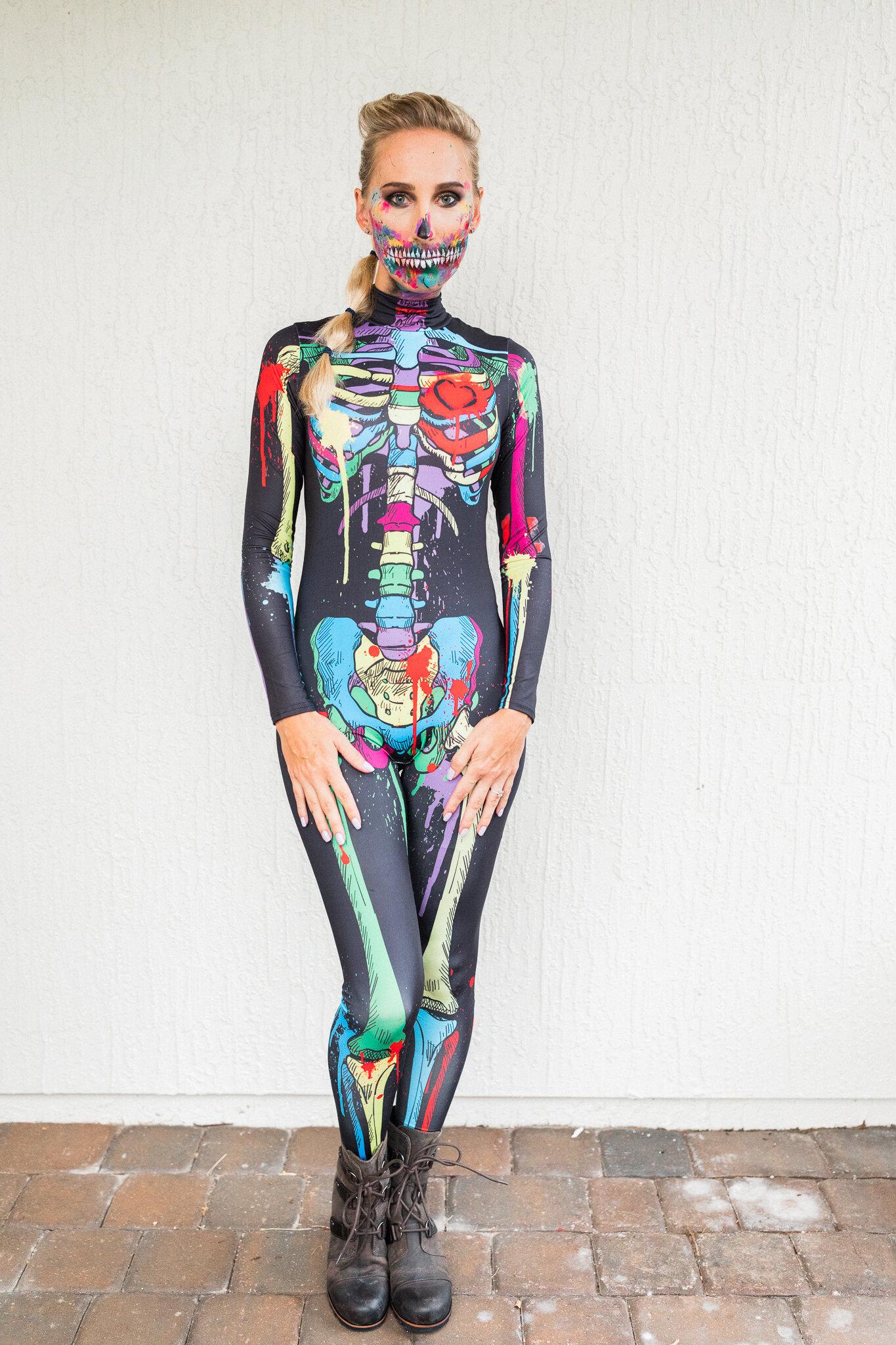 cheap high quyality easy amazon.com skeleton costume and amazing makeup ideas