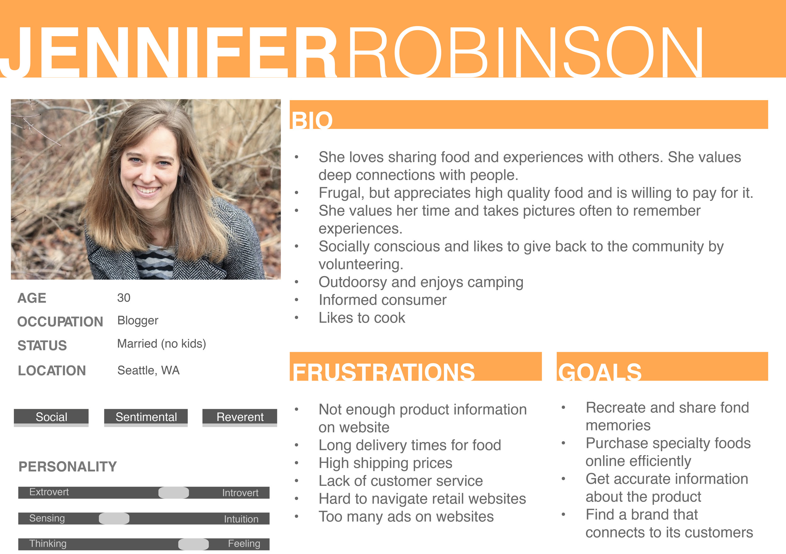 our persona, jennifer robinson