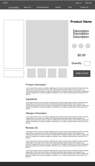 initial product page