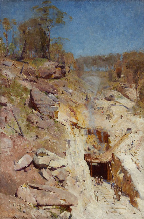 Fire's On by Arthur Streeton - collection of AGNSW