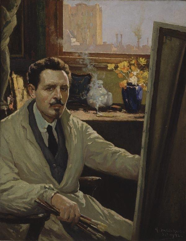Self Portrait, Antonio Dattilo Rubbo, 1924 - collection AGNSW