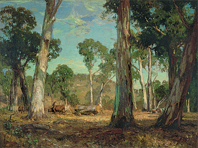 Hauling Timber by Hans Heyson (Collection AGNSW)