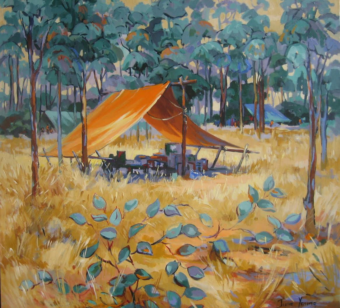 Sunlit Morning at the Musterers' Camp, Babbiloora