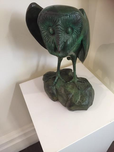 Bronze Owl by Internationally acclaimed sculptor, Silvio Apponyi, who resides in South Australia - full bronze $6,000