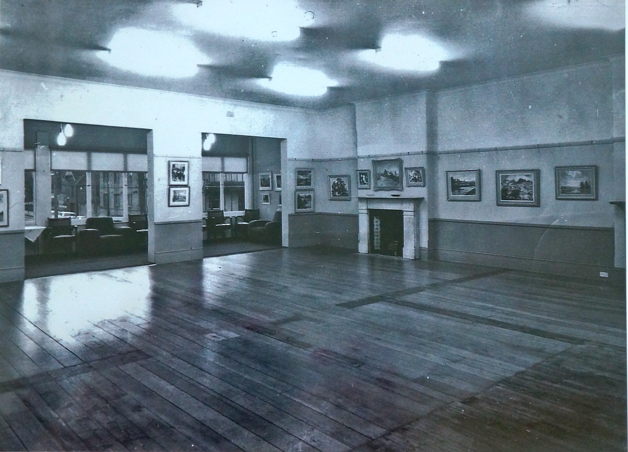 First floor of our current premises (circa 1964) was used as a meeting room and gallery.  It is now an art studio and the verandah area contains a small library and art supplies.