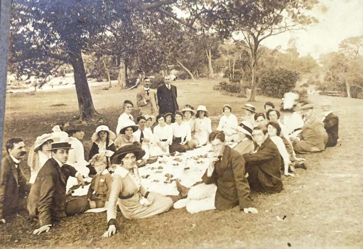 RAS students enjoying a picnic at Neilsen Park, March 1914