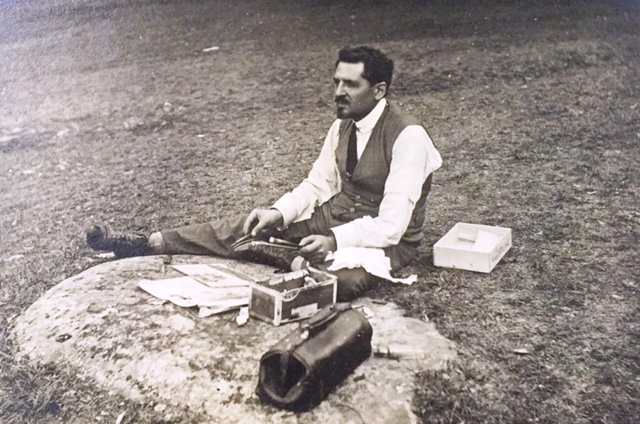 Datillo Rubbo at the Neilson Park picnic, March 1914 (Our thanks to Elayne Russell for sharing this photo)