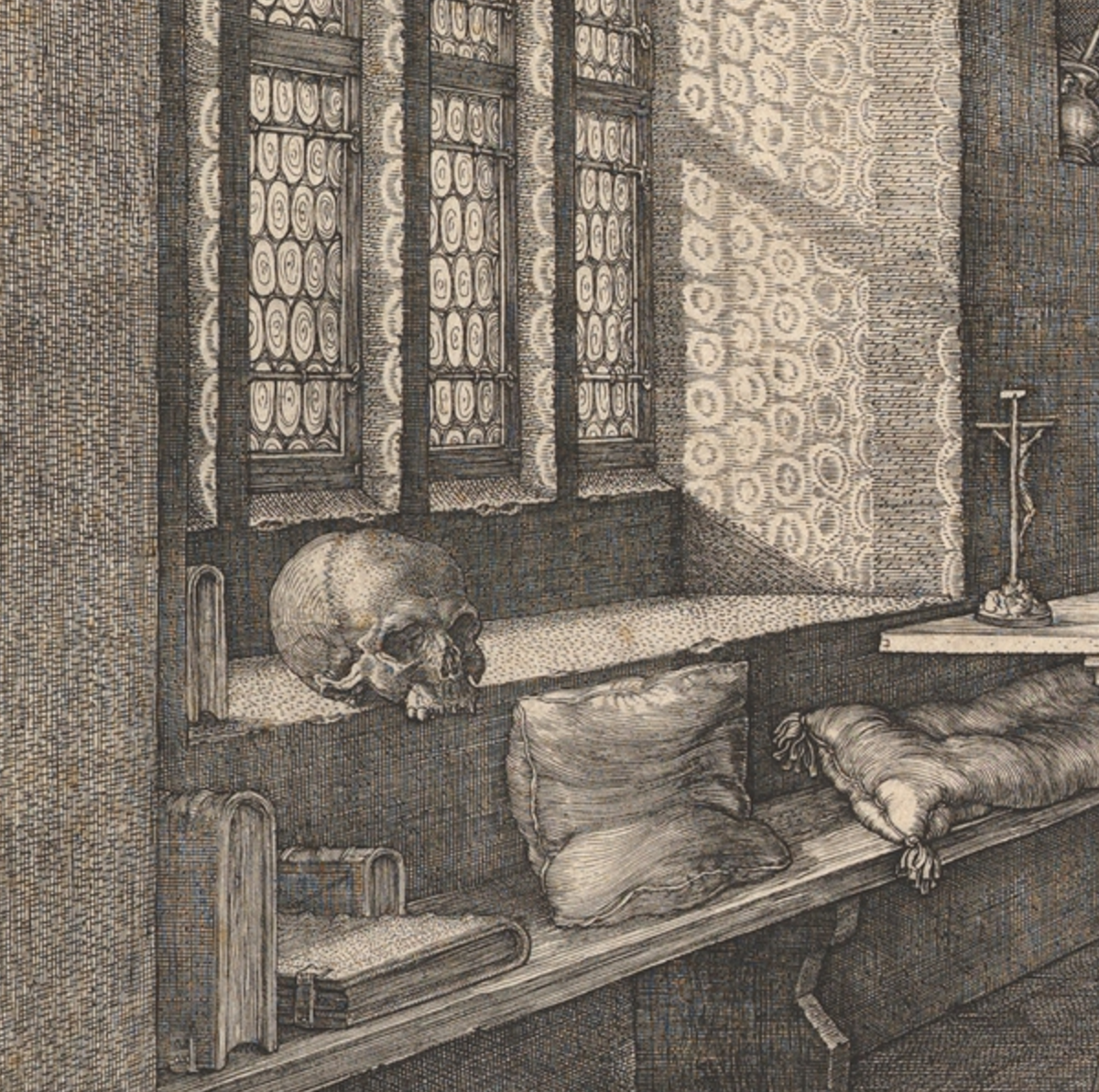 Detail of Albrecht Dürer's  Saint Jerome in His Study (1514)