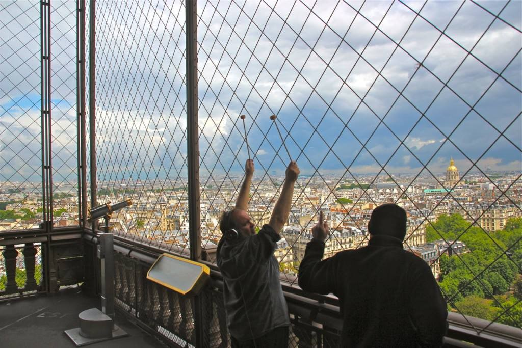 Frank Palaia, Joseph Bertolozzi and Joe Popp recording the Eiffel Tower ,  2016.