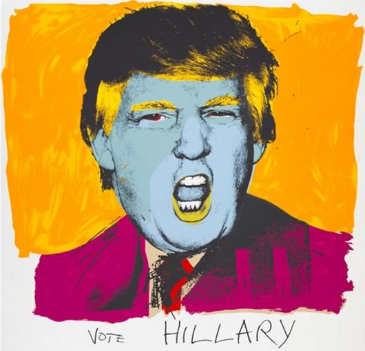 Deborah Kass, Vote Hillary , 2016.