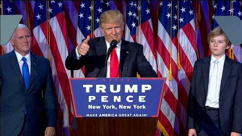 Donald Trump's victory speech, via CNN.