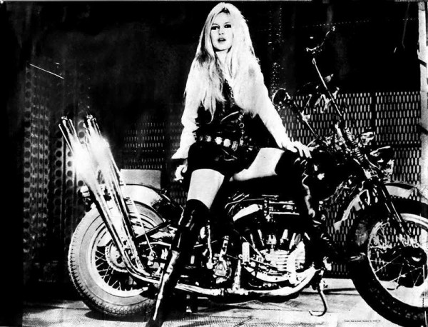 Bridget Bardot. Dylan: The motorcycle black Madonna two-wheeled gypsy queen