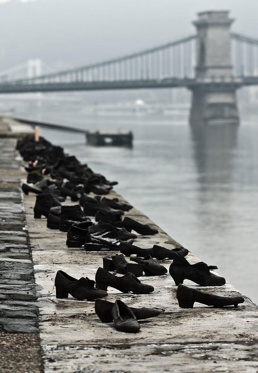 Los zapatos en el Danubio, Hungría, Budapest