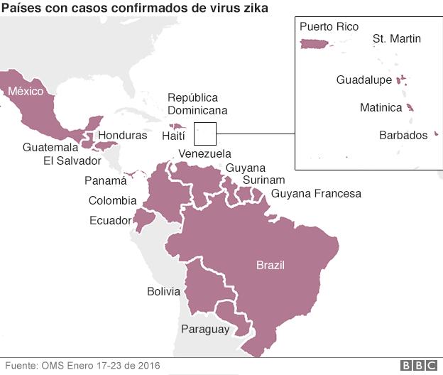 Países afectados en América Latina