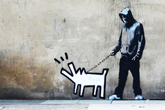 Banksy-Choose-Your-Weapon-Keith-Haring-Dog-by-Banksy.jpg