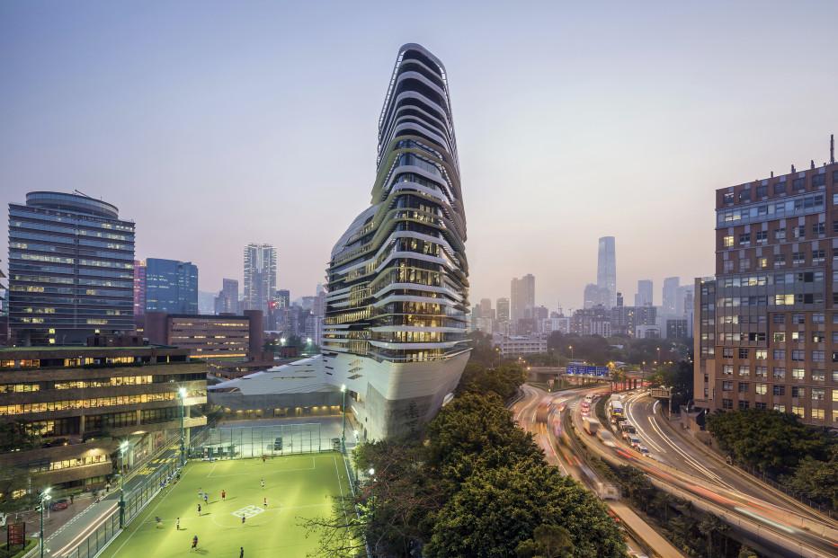 El Jockey Club Innovation Tower en Hong Kong