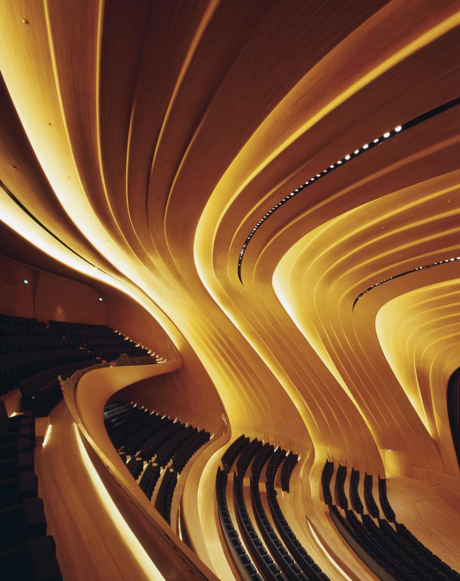 Interior del Haydar Aliyev Center