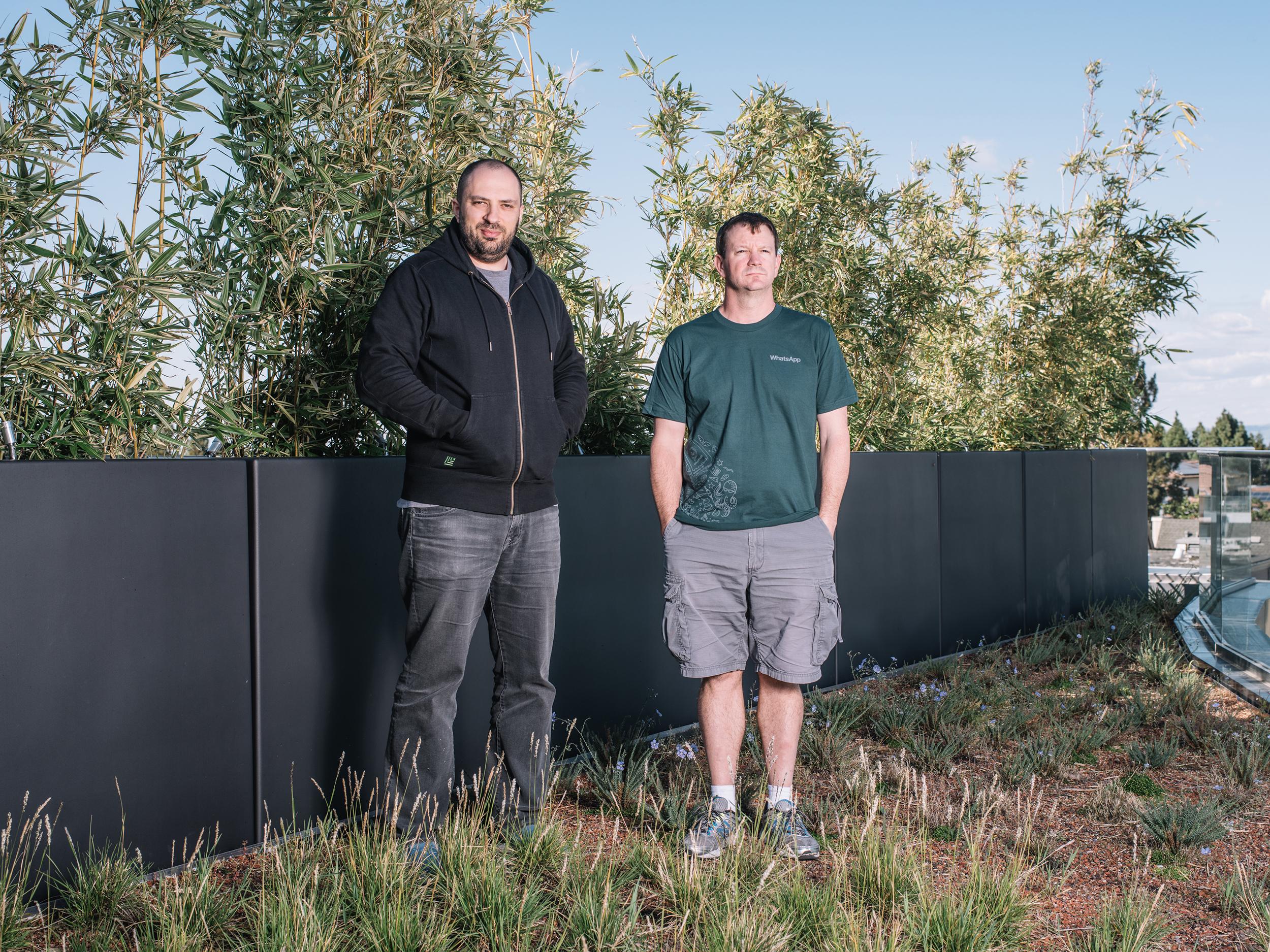 Los fundadores de Whatsapp Jan Koum y Brian Acton