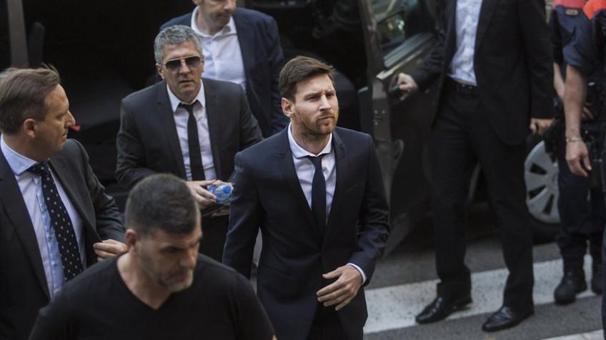 Messi en su audiencia en el pasado mes de junio