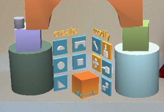 HoloBlocks menus-- create and modify
