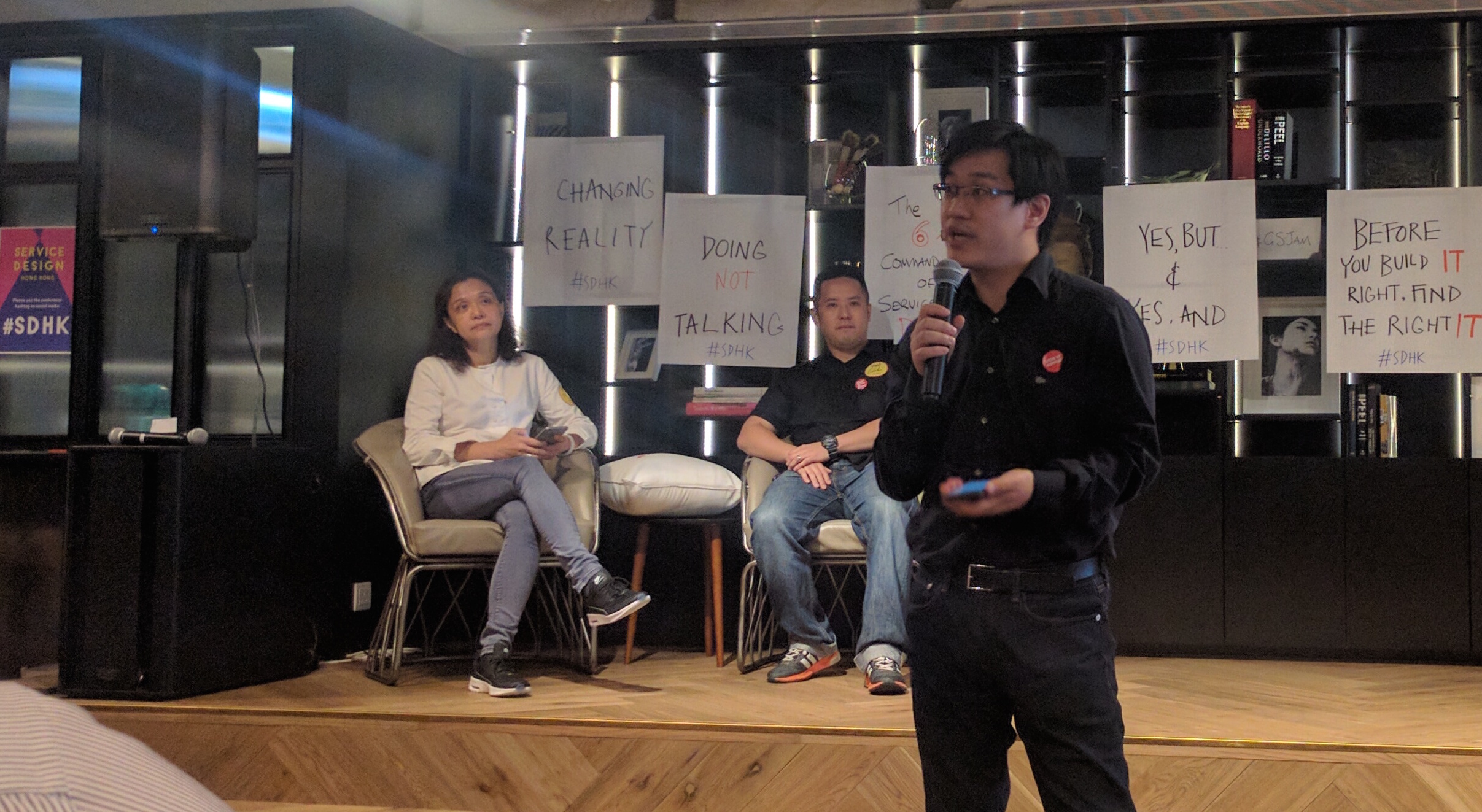 Michael Lai explained his experience designing the service of a teahouse