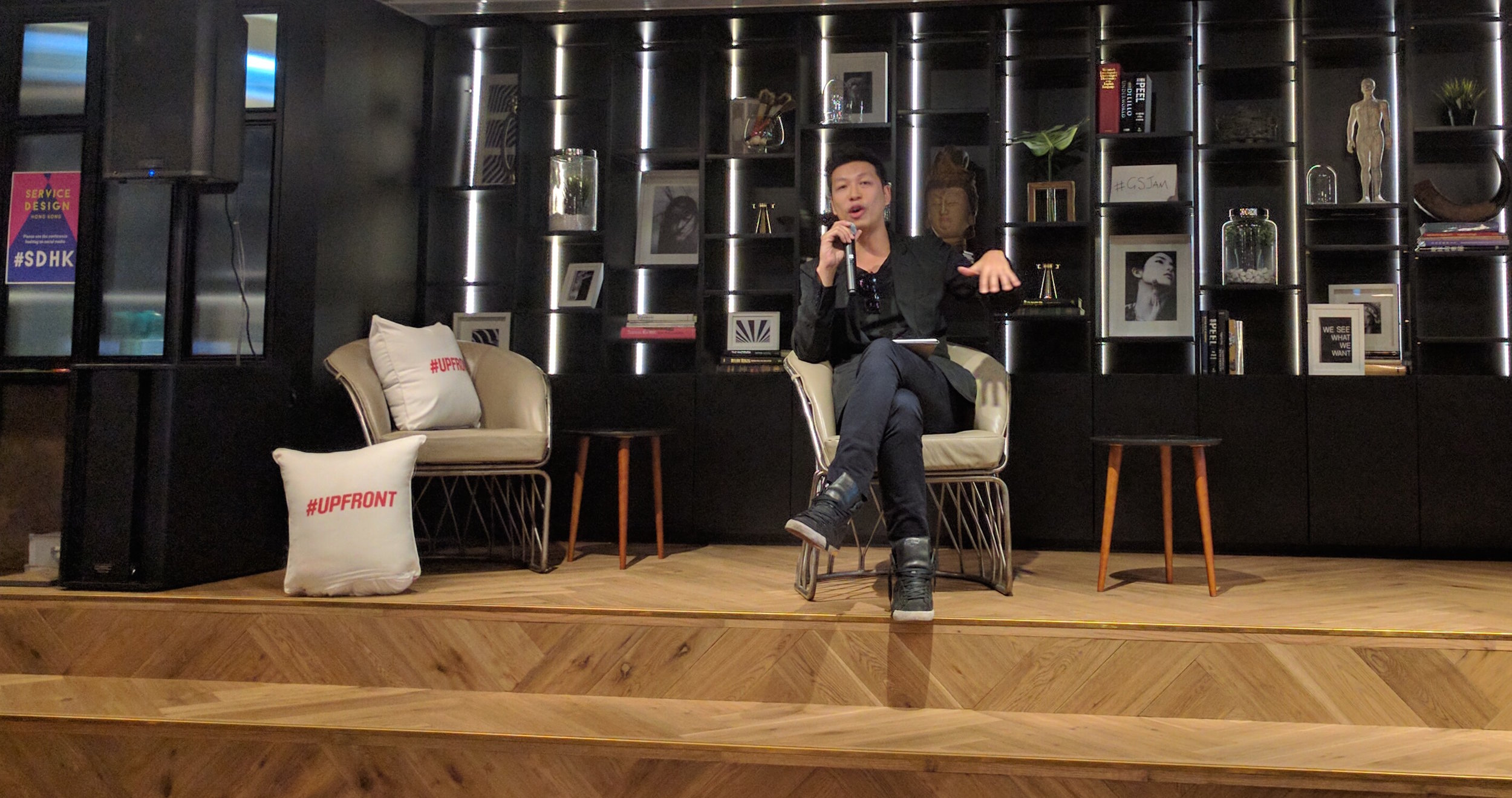 Alvin Yip invited the audience to change Hong Kong by design