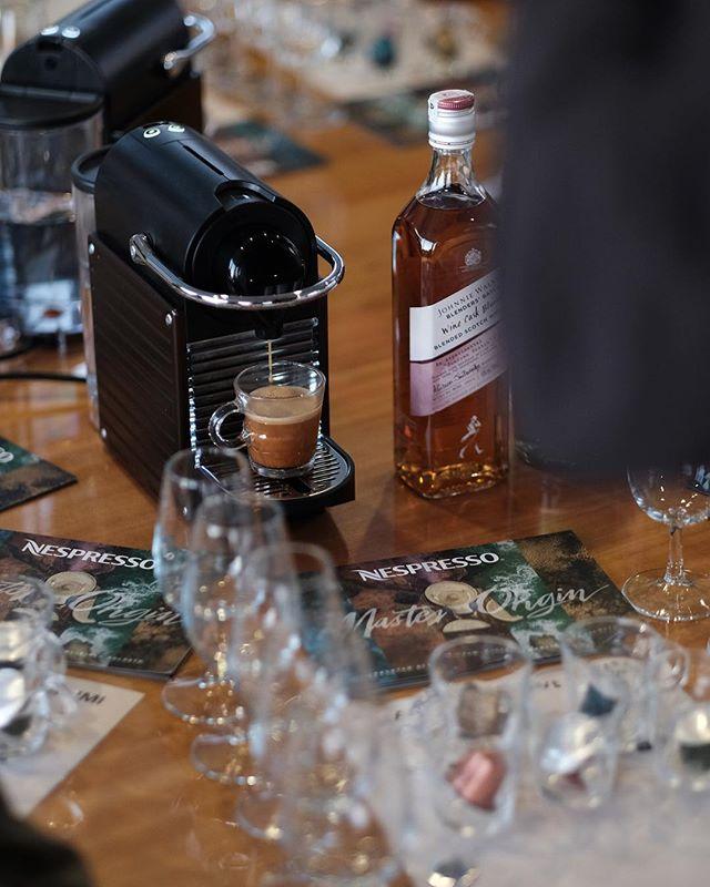 Nespresso Master Origin Ethiopia paired with Fresh Greek Cottage Cheese & Whisky soaked Cranberries and Johnnie Walker Blenders' batch Wine Cask Blend. // Nespresso // Yeme İçme İşleri // Bodrum Cup // #Nespresso #Masterorigin