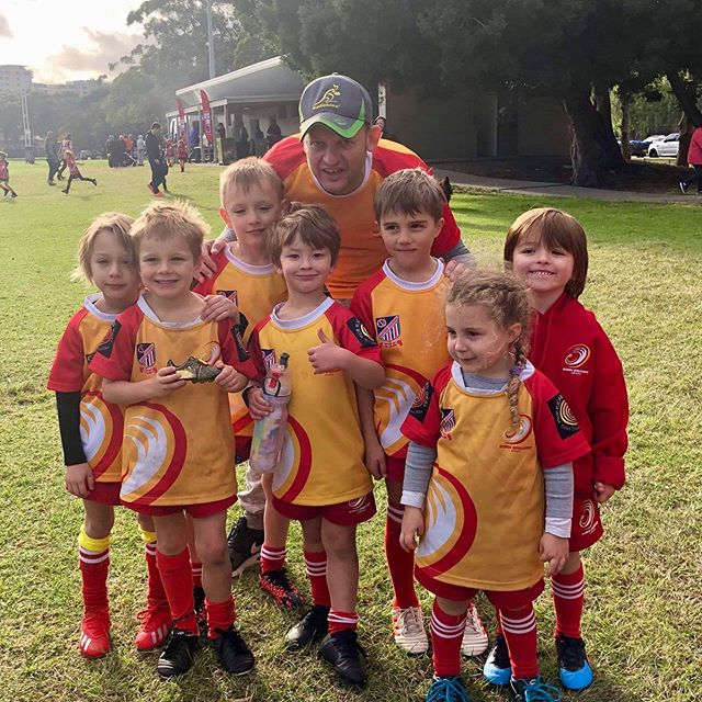Loving the game - post match smiles from our U6s #juniorrugbyunion #bondibreakers #fortheloveofrugby