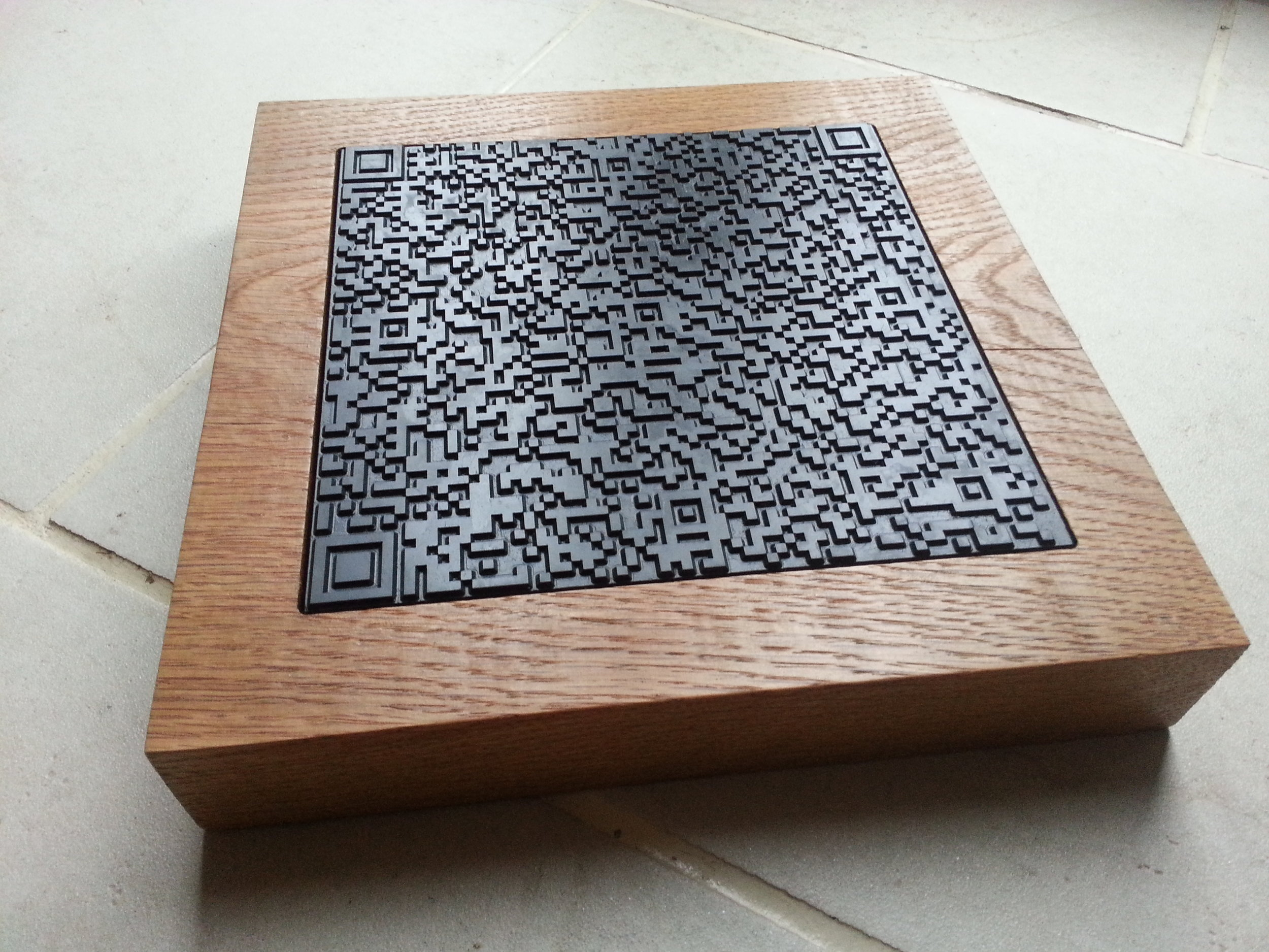 QR Message, 2012 (Welsh Slate & Oak)