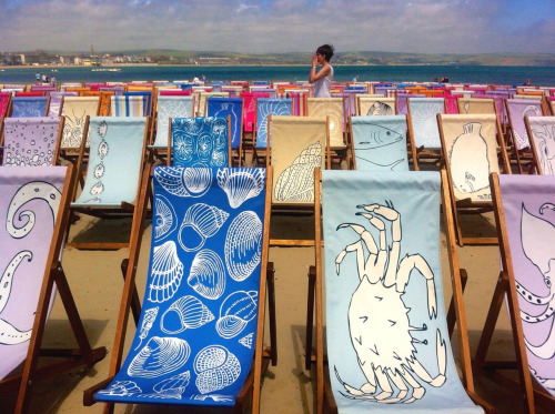 Olympic Deckchairs, Weymouth, 2012. With Becky Adams.
