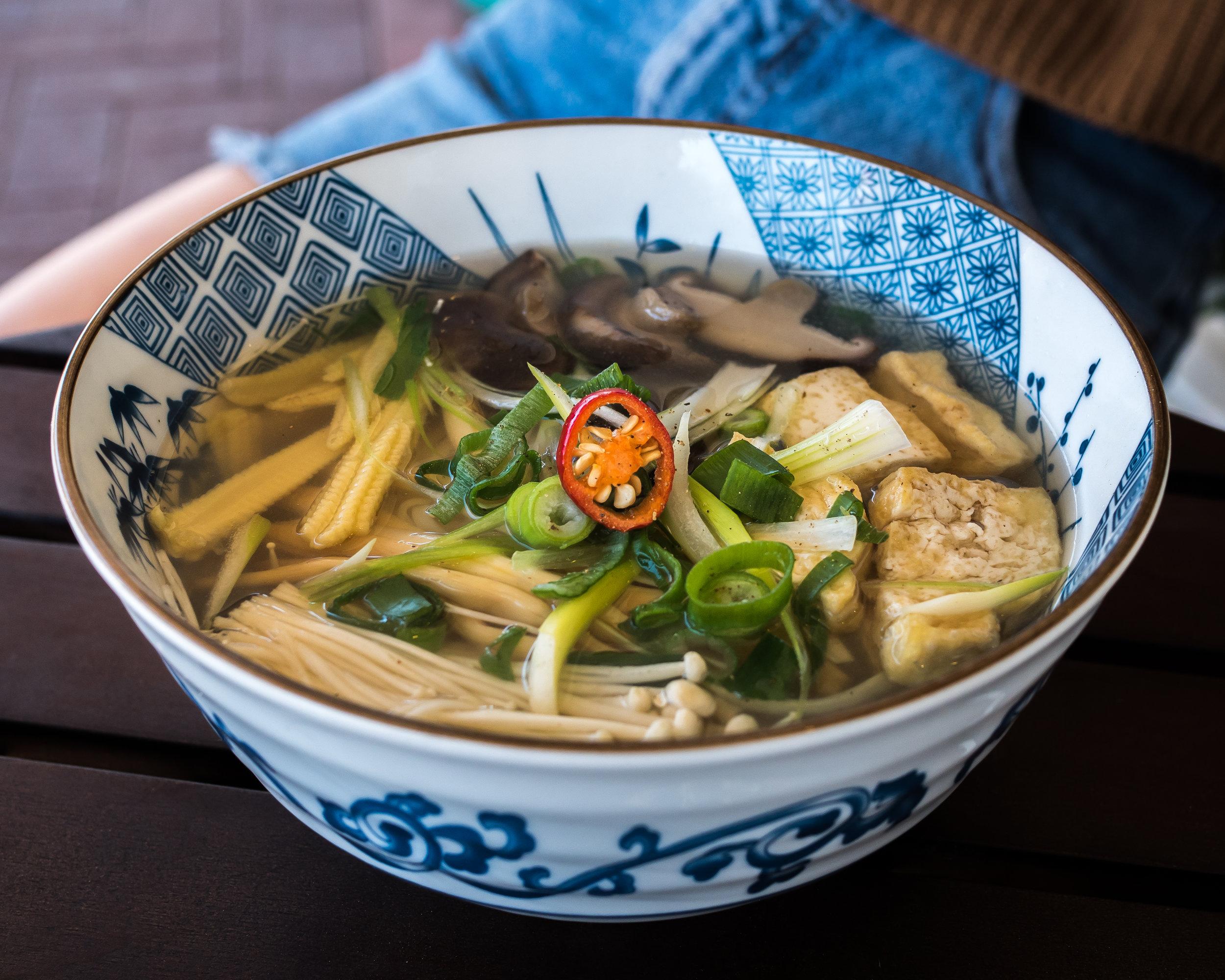 Vegan Pho with Mushroom & Tofu ($12.90)