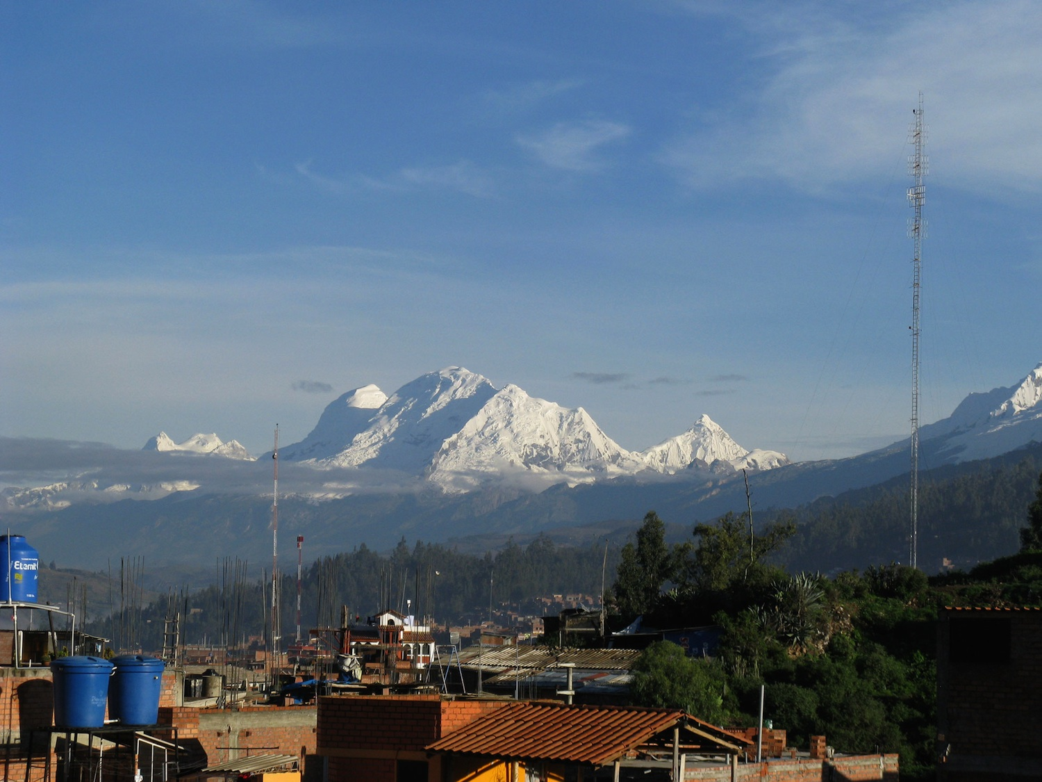 Huascarán, Peru's highest mountain and largest natural water tower. ©Adam French