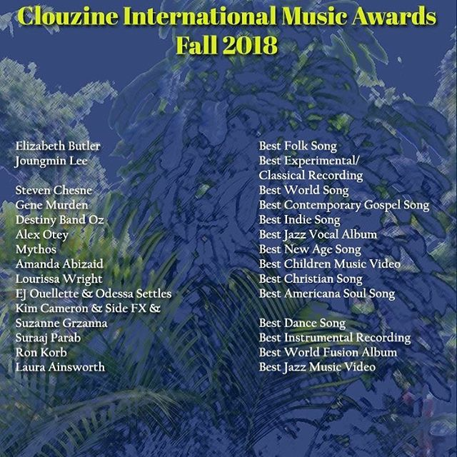 I'm in great company! Congrats all🤗 #wakingsleepingmaggy #Grammy61 #GrammyVoter #noreastamericanamusic #ejouellettemusic #IndieMusic #clouzinemagazine #clouzineinternationalmusicawards