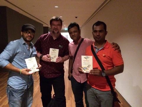 l-r: Masud Opu, Richard Angus Whitehead, MD Sharif, Mohor Khan