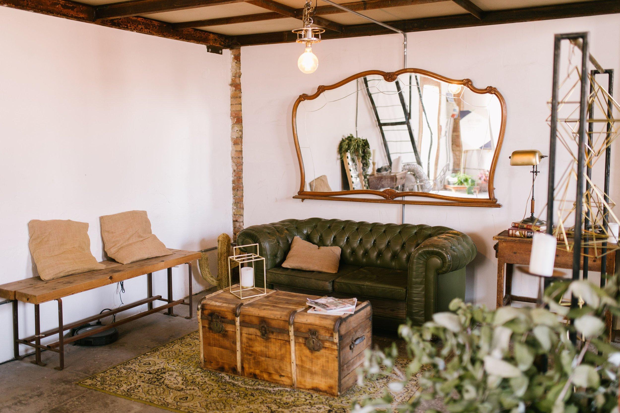Zona de los sofás