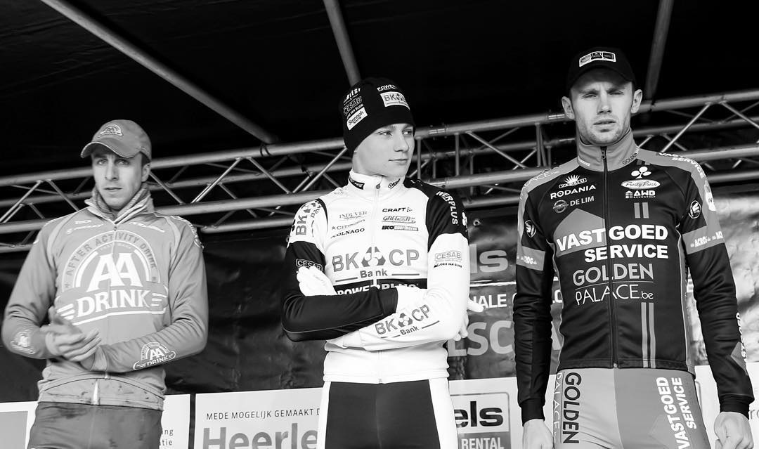 #throwback to the first @mathieuvanderpoel proffesional elite victory at Boels classic international in Heerlen. I interviewed him in his motorhome after the race. It feels like yesterday #cx #cyclocross (at Heerlen)